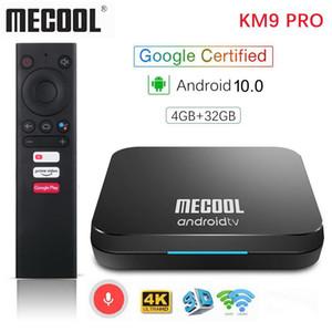 Mecool KM9 PRO ATV 4G 32G di Android TV Box 10 certificato di Google Amlogic S905X2 2.4G / 5G WiFi Android TV 10 Smart TV Box