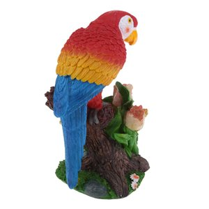 Statue Parrot statuette in resina Artigianato miniatura Indoor e Outdoor Decor Fairy Garden Art