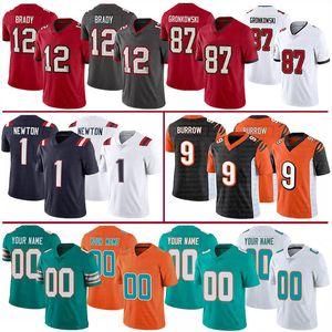 12 Tom BradyBoucanierPatriot 1 Cam Newton MiamiDolphin 1 Tua Tagovailoa CincinnatiBengale 9 Joe maillots de football tanière