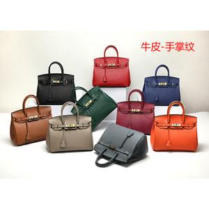 Luxurys Diseñadores Bolsas nuevo estilo de palma impresión del patrón de la Cruz Birkin bolsa de cuero bolso para mujer de los bolsos de cuero del hombro