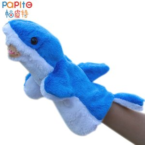 cMarionette Puppet Dolls Plush Elephant Panda Cat puppets hand Learning Baby Toys hand puppets for kid