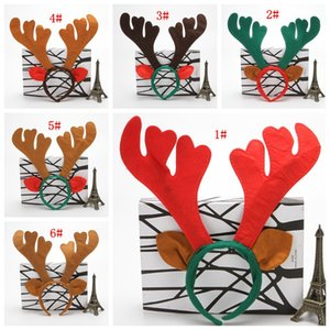 Bande Natale Decorazioni di Natale Ramificazione Capelli Rossi non tessuto Deer Horn capelli della fascia di compleanno di festa per feste AAF2069