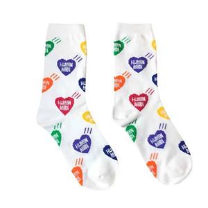 HUMAN MADE красочной любви аудиовходы мужчины и женщины пара спортивных носков