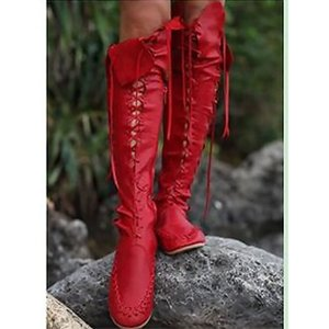 Fashion Hollow Thigh High Boots Women Plus Size 43 Fringe Boots Leather Zip Over The Knee Motorcycle Female