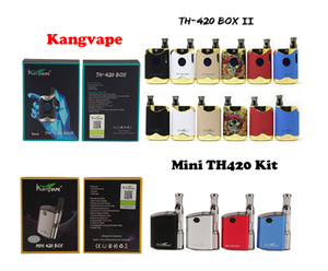 Authentic Kangvape Mini TH420 TH-420 II 2 V2 BOX Kit 510 thread 2in1 Battery 650mah with 0.5ml Ceramic Coil Cartridge 100% Original