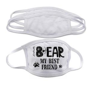 Auf Lager Blanks Sublimation Gesichtsmaske Erwachsene Kinder doppelte Schicht Staub Prävention für DIY Wärme Maske Transferdruck DHL-freien Verschiffen FY9202