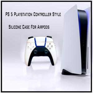 PS5 Game Controller Estilo Capa protetora para Airpods 1 2 PS5 Pro Gamepad Mold Silicone Airpods Pro Case Fone de Ouvido