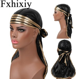 Новый мужской Silky Durag Удлиненная ремни бандана головной убор Pirate Hat Волны Do Du Тряпки Аксессуары для волос
