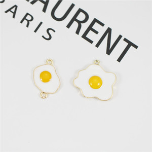 MRHUANG 10pcs / lot venden huevo huevo esmalte Conector encajan pulseras collares joyería y accesorios de moda de bricolaje