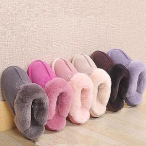 Autunno e Inverno fiocco di neve di peluche termiche della confezione e pantofole di cotone coperta casa scarpe e pantofole E58W #