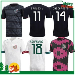 hommes adultes + kids kit 19 20 Mexique H LOZANO DOS SANTOS Chicharito football chemise 2019 maillot de football de sport 2020