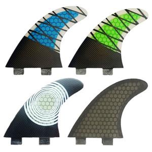 Surfboard Fins double Tri fin d'un jeu pour la taille boîte G5 FCS en fibre de verre avec Core Performance Fin de la taille M de carbone