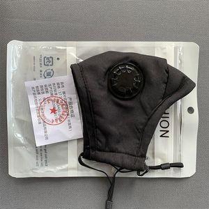 Yıkanabilir Vana Yeniden kullanılabilir Maskesi Nefes Yüz 1 Karbon Filtre Protectivecotton Pembe Siyah Beyaz Çanta Mascherine ile Anti-toz PM2.5 Maske