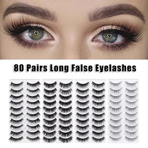 Easy To Remove 80 Pairs Fake Eyelashes 8 Style Thick Long Eye Lashes Beauty Makeup Women Girls 88
