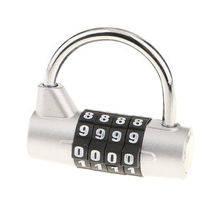 Combination Lock, 4 Digit Combination Padlock, Metal and Plated Steel Material for School, Employee, Gym or Sports Locker, Case, Toolbox