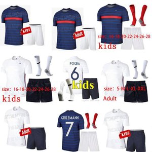 2020 MAILLOTS de football France EURO soccer jersey MBAPPE GRIEZMANN equipe de france 20 21 KANTE POGBA enfant kids KIT Uniforms socks