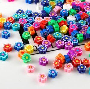 300pcs / lot de la joyería DIY joyería que hace Polímero mezcla de flores de color arcilla Cuentas accesorio de la pulsera Rebanadas