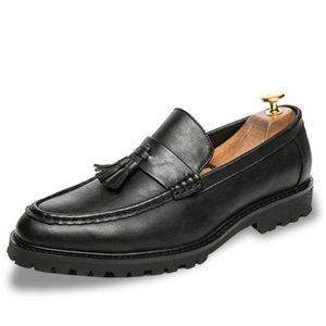 Обувь платье Мужчины Brogue Moccasins Forforman Business Oxfords для Итальянских Бренд Кожаные Квартиры Вождение