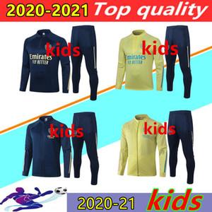 20 21 Arsenal enfant survêtement veste de football 2020 201 LACAZETTE OZIL WILLIAN AUBAMEYANG PEPE enfants Survêtement de football