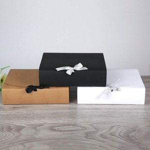 30pcs 31x25.5x8cm Large Black White Brown Kraft Paper Box Wedding Party Gift Packaging Box,Cake Box Clothing Shoes Boxes