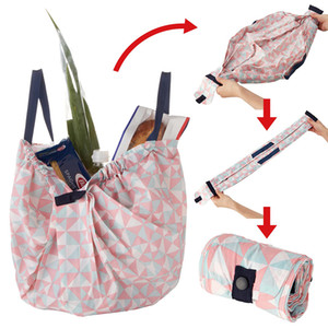 MABULA Reusable Grocery Bags Eco-Friendly Foldable Large Capacity Shopping Compact Bag Spat Washable Durable Handbags 200919