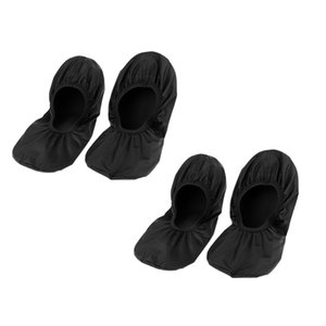 2 Pair Durable Bowling Shoe Covers Non Skid Shoe Shield - Black (XL)