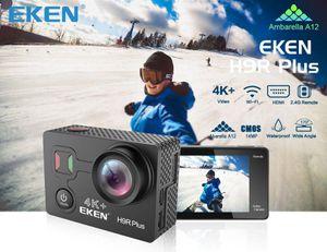 شاشة عالية الدقة 170 عمل هدمي EKEN كاميرا واي فاي 4K 2 مقاوم للماء على نطاق واسع جدا زائد بوصة هدمي H9r الشحن الأصلية مجاني الرياضة تحكم ريموتيس iMbIOi