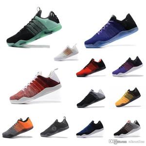 Mens Увеличить Воздушные ZK11 Bryants 11 XI элитной низкой баскетбол обувь Рождество Зеленый FTB Белого Красный Черное Золото BHM Леброн 18 кроссовок тенниса с коробкой