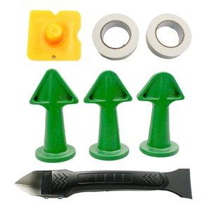 7 pièces calfeutrer Tool Kit calfeutrer buse applicateur calfeutrer époxy à piston Buse Accessoires pour carreaux ou de briques Joints