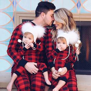 Noel Pijama Ailesi Çift Baba Anne Ve Me Giyim Anne ve kızı Seti anne Papa Oğlu kızı Bebek Pijamas Kıyafetler