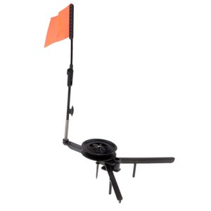 ABS Ice Fishing Tip-Up Ice Fishing Rod With Hole Cover And Orange Flag
