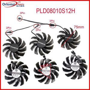 Free Shipping T128010SM PLD08010S12H 12V 0.20A 75mm Fan 40*40*40mm For Gigabyte GTX 970 GV-N970WF3-4GD Graphics Card Cooling Fan