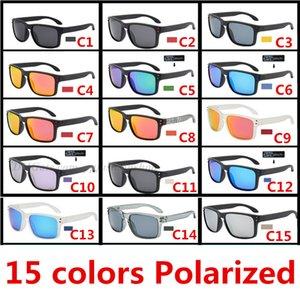 9102 개 고품질 안경 UV400 눈 보호 15 색상 낚시 스포츠 편광 서명 선글라스 야외 승마 안경