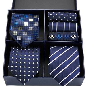 100% Cravate en soie imprimé floral hommes Tie Set Mouchoirs Set nouveauté Designer Wedding Party Hommes Ties 7.5cm