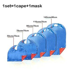 Двойные Стороны Подростка 15 Дизайна для взрослых Superhero Cape + маски атласной ткани Рождество Хэллоуиной Косплей Мысы Prop костюмов партии