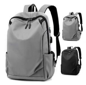 2020 رجل الظهر سهل نايلون سعة كبيرة حقيبة السفر للجنسين المدرسية USB حقائب السفر في الهواء الطلق