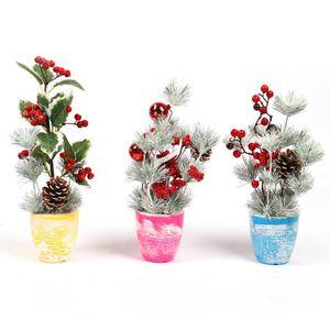 35/40 centímetros Flores Natal Pinheiro Artificial Falso Cone Christmas Gift Box flor enfeites de grinalda Casa Decor Inverno
