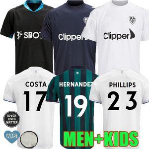 20 21 Leeds United Soccer Jerseys 2020 2021 Koch COSTA Alioski Phillips BAMFORD Homme Enfant d'entraînement de football chemise fans uniforme version du lecteur