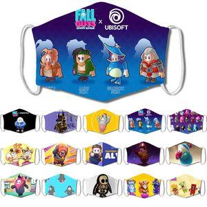 2020 designer face mask kids outdoor explosive jellybean game masks printing masks children's anti-smog breathable adjustable ear buckles