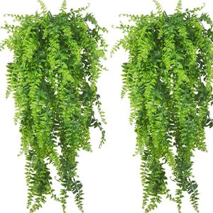 99 -4 PCS Artificial Plants Vines Boston Fern Persian Rattan Greenery Fake Ferns Ivy for Wall Hanging Basket Decorations