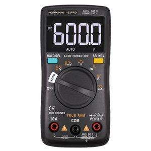 RM101 Dijital Multimetre 6000 sayımları Arka AC / DC Ampermetre Voltmetre Ohm Taşınabilir Gerilim ölçer RICHMETERS 098/100/109/111