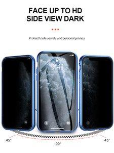 Verre Cases cadre en métal pour iPhone X 7 8 7plus 8plus 11 Pro Max XR XS MAX 11 XS Case HD en verre trempé Aimant Téléphone Case Cover PC
