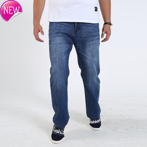 Color 2020 Blue NEW Spring Summer Thin Mens Jeans Denim Regular Straight Plus USA Size W 36-38 40 44 46 48 50 52