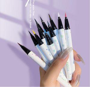 2020 brand FAICCIA waterproof and durable not blooming cool black eyeliner liquid watery eyeliner 12colors can choose