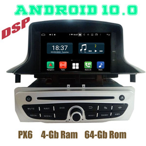 PX6 Android 10.0 Car GPS DVD Player for Megane 3 III Fluence 2009 2010 2011 2012 2013 2014 2020 2020 with 4+64GB WIFI car dvd