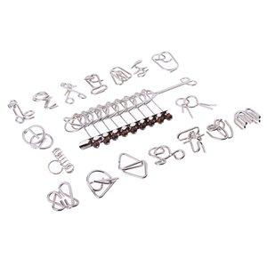 18x IQ Metal Puzzle Ring китайской разведки игрушка Puzzle Box подарки Разработка Дети Творчество