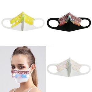 Máscara muchachas de las mujeres de lujo magia protectora de la cara del club nocturno Mostrar las lentejuelas del partido de Cosplay DesignerFace máscara # 913