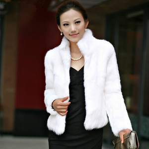 Piel de mujer Faux abrigo esponjoso abrigos de peluche otoño e invierno manga larga manga larga mujer ropa 2021 abrigo femenino