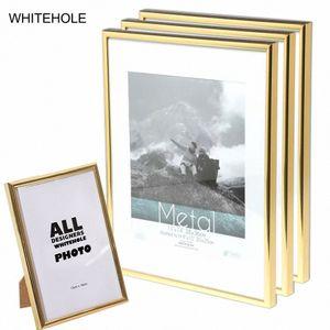 3Pcs / Set Picture Frame Certificato metallo Photo Frame 10x15 15x20 cm A4 21x30cm Pleixglass All'interno Oro Nero Argento poster 8wM3 #