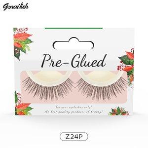 Genailish Self-Adhesive Non-Irritating Anti-Allergy False Eyelashes Handmade Natural Long Thick Soft Fake Eyelashes ZKS01-1